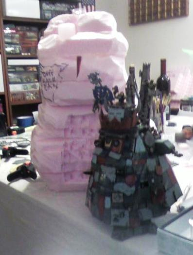 Just foam at this point -- Stompa next to it is for size comparison.